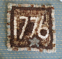 1776 Hooked Mat - Olde Raggs USA