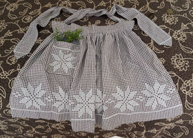 Sweet Embroidered Apron