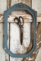 Blue Painted Picture Frame