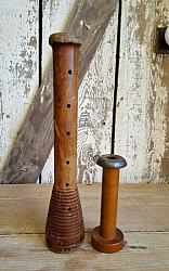 Pair of Old Mill Bobbins