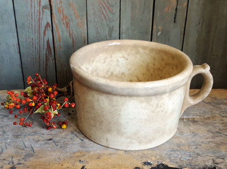 Ironstone Handled Pot
