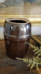 Brown Stoneware Canning Crock