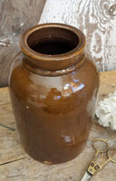 Brown Stoneware Jar