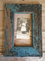 Wood Frame with Old Blue & Black Paint #5