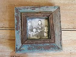 Wood Frame with Old Blue & Black Paint #6