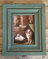 Wood Frame with Old Sage Green Paint