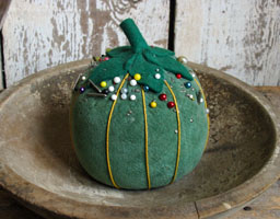 Big Green Velvet Tomato Pincushion