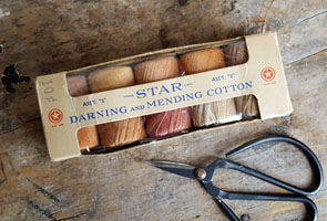 Box of Darning and Mending Cotton Thread