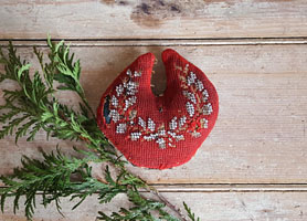 Old Red Beaded Pincushion
