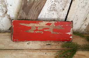 Old Red Paint Board