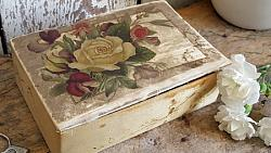 Lovely Old Silk Covered Box