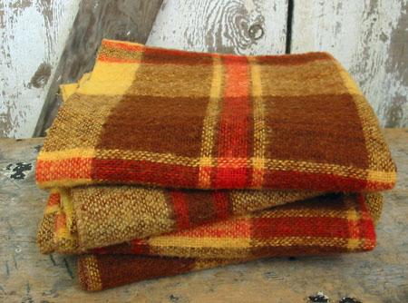Vintage Wool Autumn Plaid