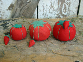 "Tomato Pincushion Lot ""C"""