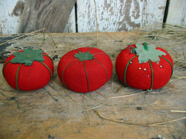 "Tomato Pincushion Lot ""D"""