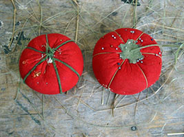 Pair of Vintage Tomato Pincushions