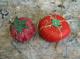 "Tomato Pincushion Lot ""G"""