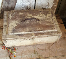 Wood Tool Box with Old Paint