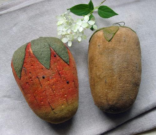 Early Velvet Strawberry Pincushions