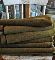 Vintage Wool Army Green