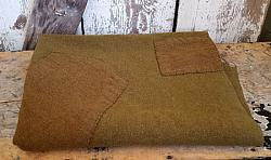 Vintage Army Green Wool with 2 Large Patches