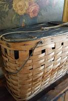 Nice Old Oval Lidded Basket