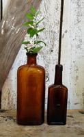 Pair of Old Brown Bottles