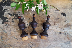 Lot of Old Wood Finials