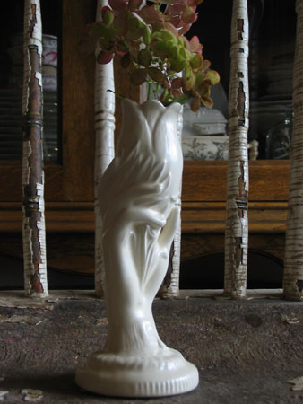 Graceful Creamware Vase