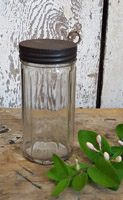 Glass Jar with Tin Lid