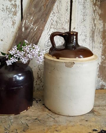 Antique Stoneware Whiskey Jug