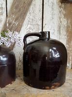 Antique Brown Glazed Jug - Large