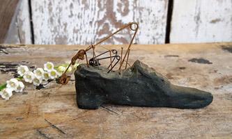 Original Netty LaCroix Wax Shoe Pincushion