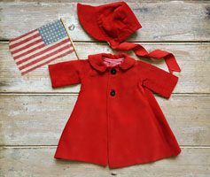 Little Red Doll Coat & Hat