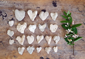 Lot of Heart Shaped Stones