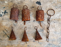 Lot of Rusty Cow Bells