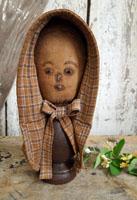 Schneeman Mannequin Head with Bonnet
