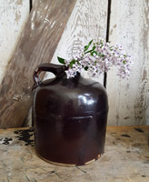 Antique Brown Glazed Jug - Small
