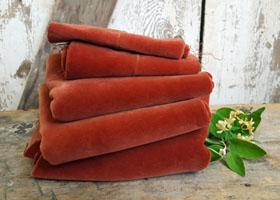 Vintage Cinnamon Velvet Velveteen