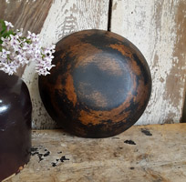 Wood Bowl with Black Paint - Small