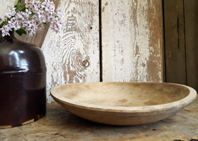Wood Bowl - White
