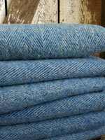 Vintage Wool Blue Herringbone
