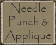 Needle Punch  Applique