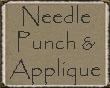 Needle Punch  Applique