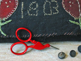 Tiny Red Storklette Scissors