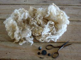 Raw Coopworth Wool Cream