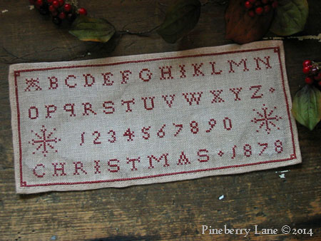 Christmas 1878 Marking Sampler PATTERN