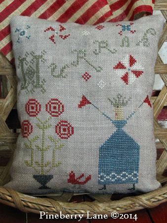 Hurrah Sampler Pillow PATTERN