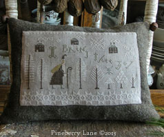 I Bring Thee Joy Sampler Pillow PATTERN