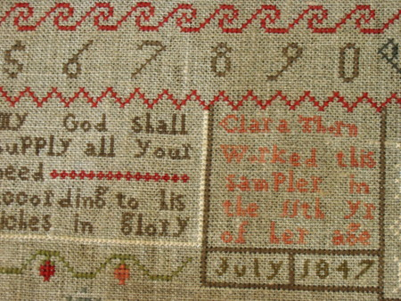 Clara Thorn Sampler PATTERN