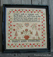 Mary Ann Suckling 1846 Sampler PATTERN